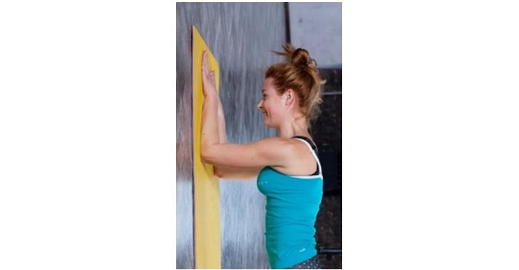 壁に手をつく体操