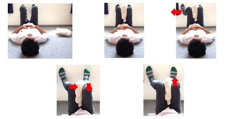 左内転筋と左ハムの体操