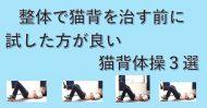 猫背を整体で治す前に試すと良い体操を紹介したブログのイメージ画像