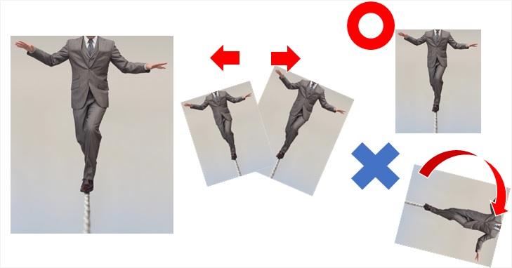 体の歪みの機能を表現した画像