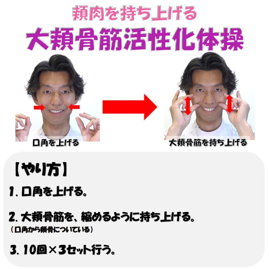 大頬骨筋活性化の矯正体操のやり方