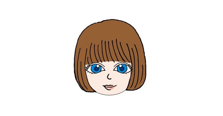 丸顔のアニメ