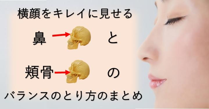 横顔を綺麗に見せる鼻と頬骨のバランスを取り方を説明したブログのイメージ画像