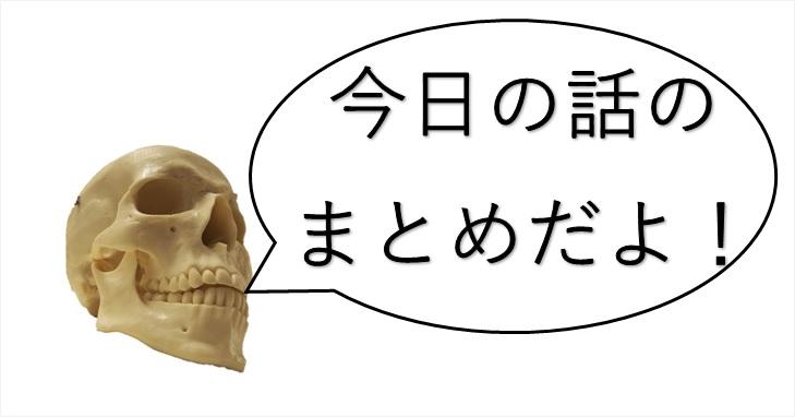 話をまとめる頭蓋骨君