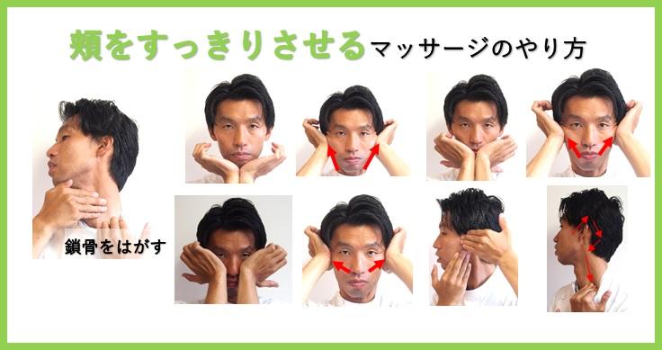 頬をすっきりさせるマッサージのやり方