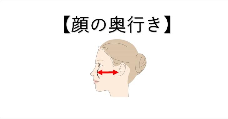 顔の奥行きの画像