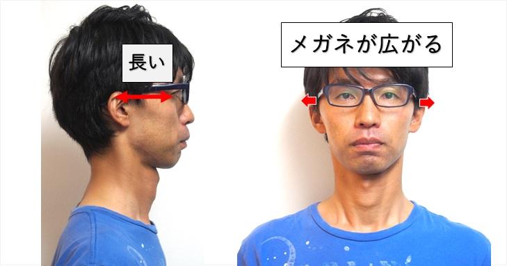 メガネが広がる事を説明した画像