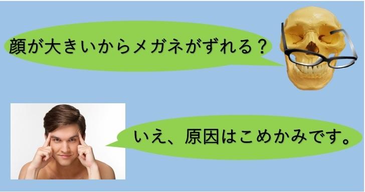 メガネとこめかみについてのブログのイメージ画像