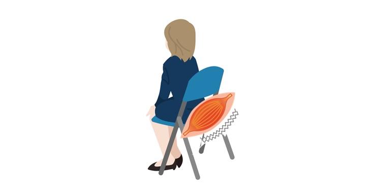 座ることで特定の筋肉への負荷がかかる