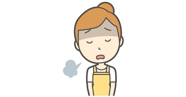 疲れた女性のイメージ