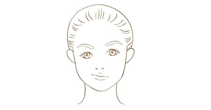 顔の歪みがある女性のイメージ画像
