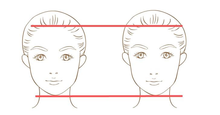 鼻から口が長い女性のイメージ画像