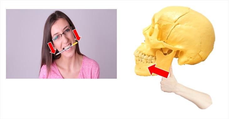 スティックを使っての顎矯正法