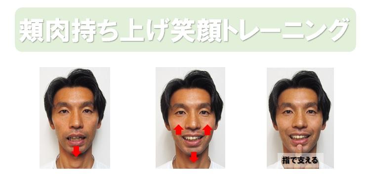 頬肉持ち上げ笑顔トレーニング