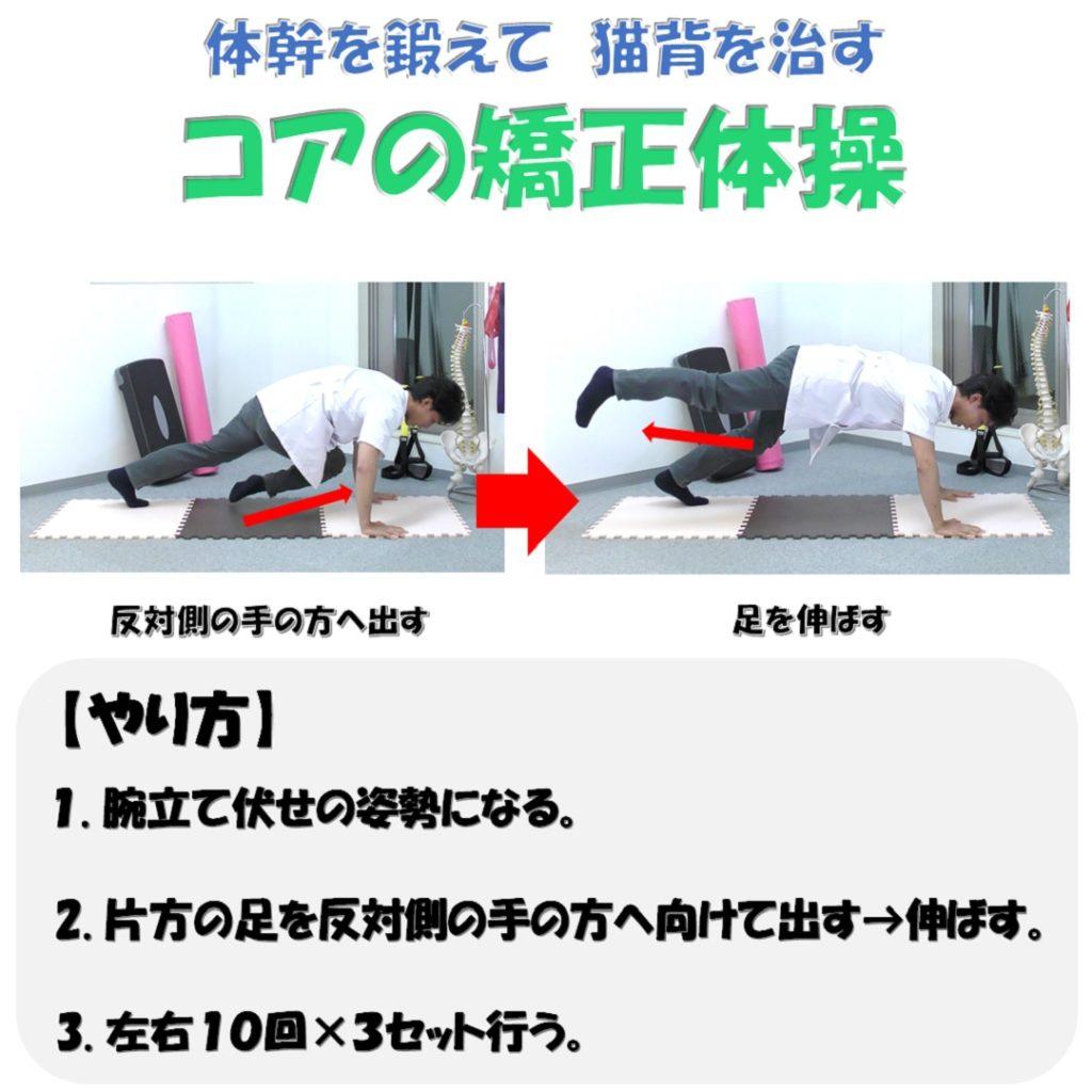 体幹を鍛えて猫背を治すコアの矯正体操