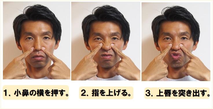 大頬骨筋のトレーニング