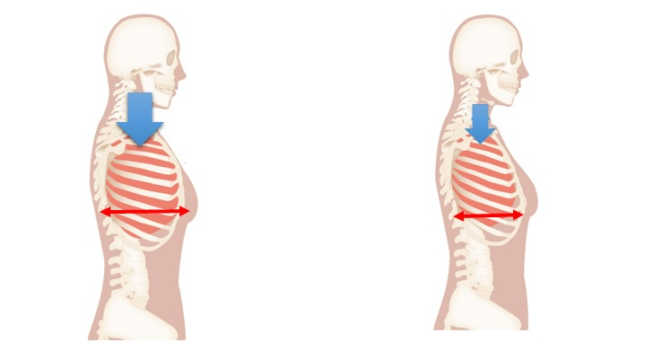 肋骨内外旋と呼吸