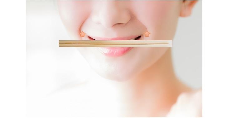 割り箸口角トレーニング