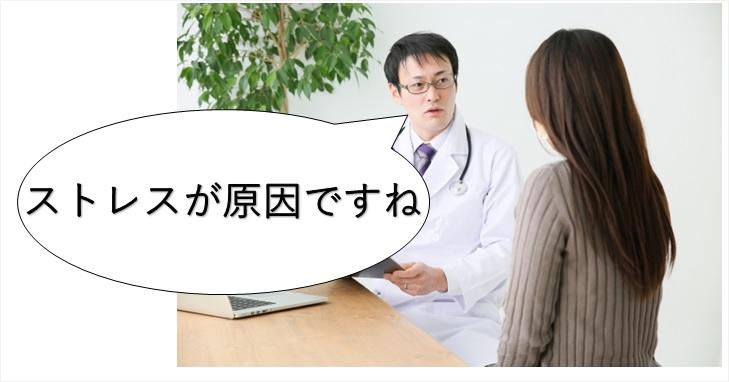 ストレスの診断を行う医師