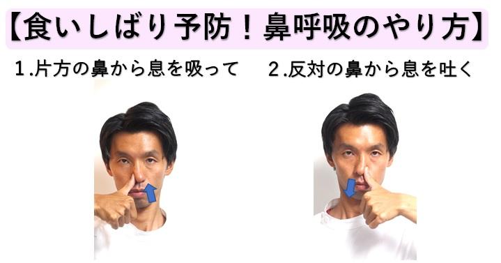 食いしばり予防鼻呼吸のやり方